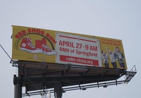 RMHC-CTMA on a highway bilboard